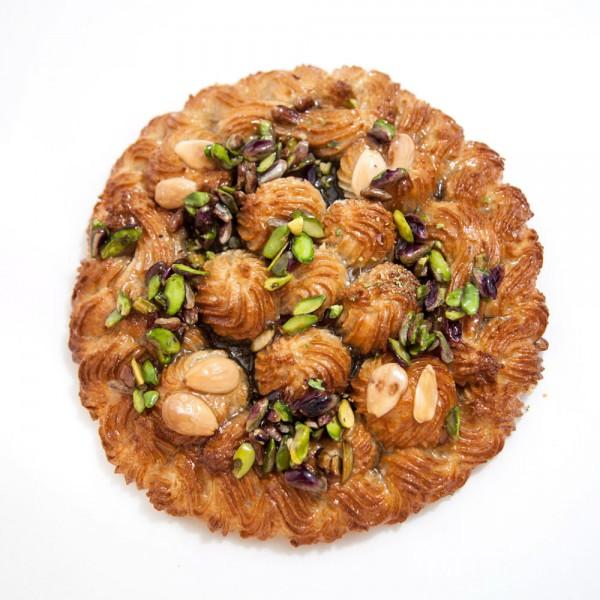 Torta del nonno di mandorle e pistacchi